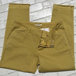 LOFT Yellow Marisa Fit Cropped Chinos Size 8